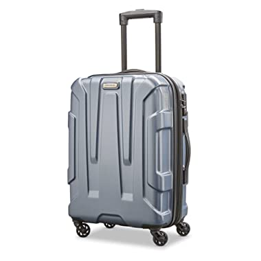 Samsonite Centric Expandable Hardside Carry On Luggage with Spinner Wheels, 20 Inch, Blue Slate
