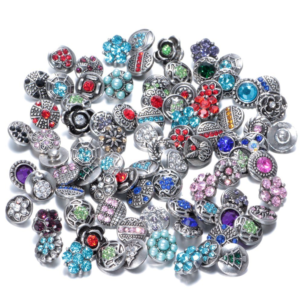 Soleebee mixte alliage aléatoire strass 12mm Snap boutons charmes bijoux 30pcs Yiwu shuoling E-Commerce Co. Ltd XHJ30-01