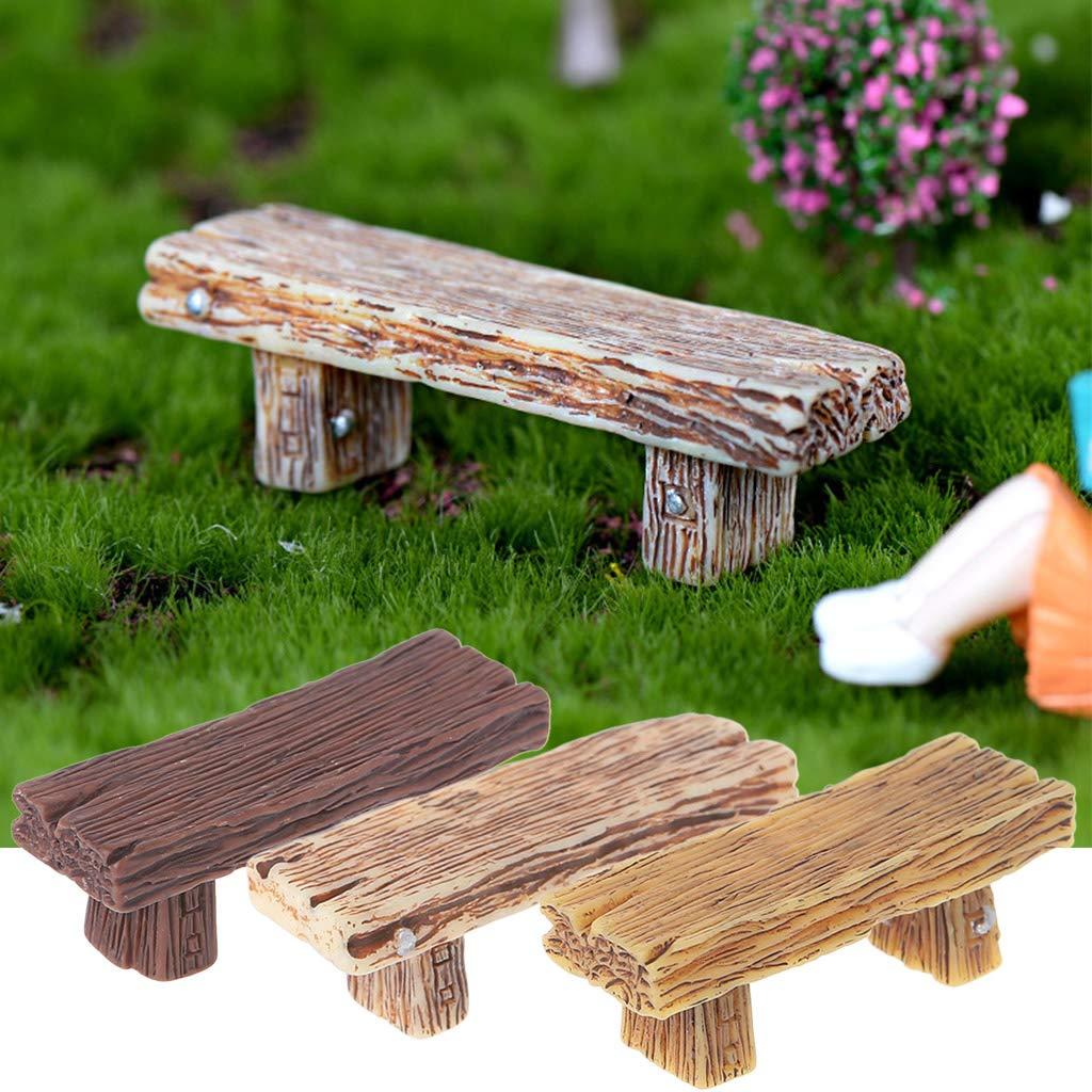 ruiruiNIE Retro Chair Miniature Figurine Ornamenti Bonsai DIY Micro Landscape Home Decor
