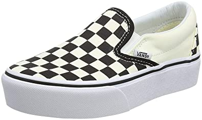 d78b870f71e Vans Classic Platform Black White Check Womens Slip-On Trainers ...