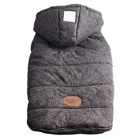 Ascendons - Chaqueta con Forro Polar para Perro con Capucha para Invierno, Chaleco de frío