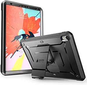 iPad Pro 12.9 Case 2018, SUPCASEUB Pro Serieswith Built-In Screen Protector Heavy Duty Full-Body Rugged Protective Case for iPad Pro 12.9 Inch 2018 Release (Not Support Pencil Charging) (Black)