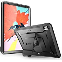 SUPCASE iPad Pro 11 '' Case 2018 Release, [UB Pro Series] with Built-in Screen Protector Kickstand Full-body Rugged Protective Case for Apple iPad Pro 11 Inch 2018, Not Compatible Apple Pencil (Black)