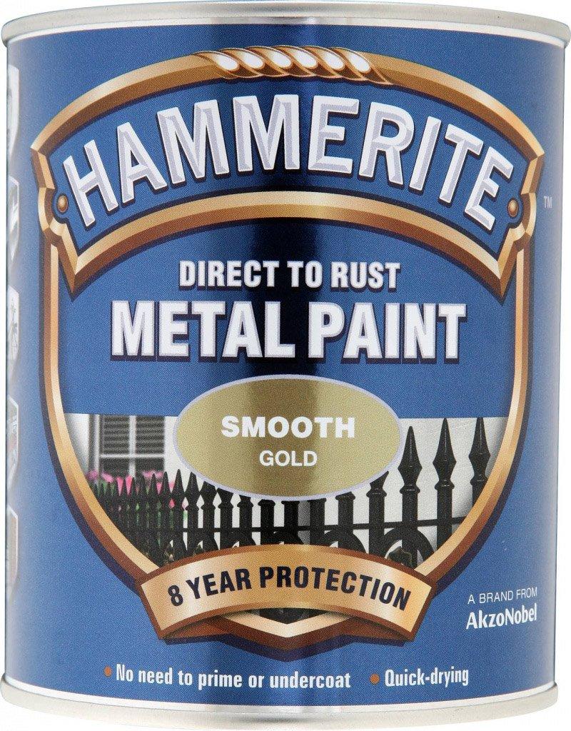 Hammerite Metal Paint Smooth 750ml Gold ASINOAUK30K