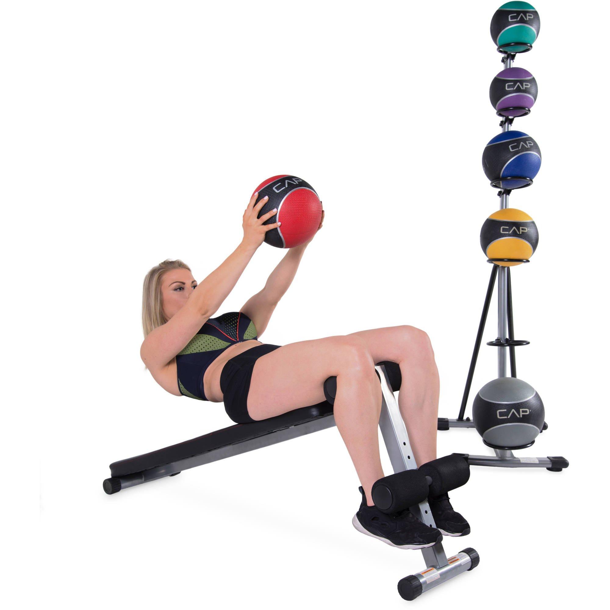 CAP Strength Slant Board with 42 lb Medicine Ball Set