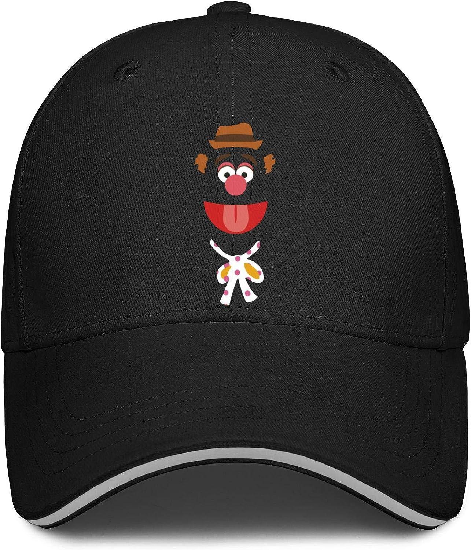 Baseball Cap Profile Six Panel All Cotton Trucker Cap NAKHFBVi Unisex Low Fozzie-Bear-Orange-Wears-Hat-and-Necktie-Muppet