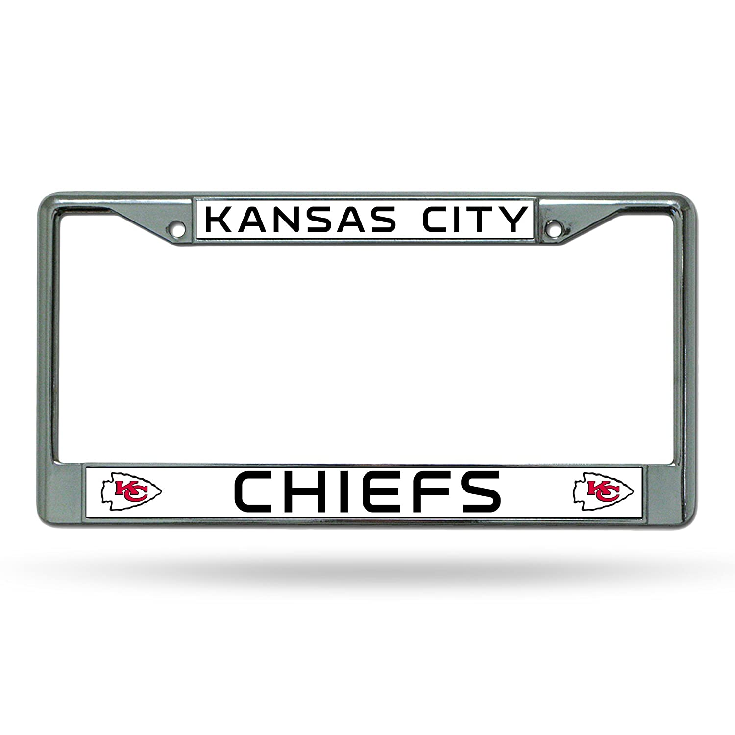 amazon com kansas city chiefs chrome license plate frame