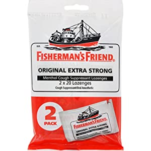 2Pack! Fisherman's Friend Lozenges - Original Extra Strong - Dsp - 40 ct - 1 Case
