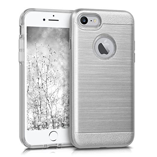 3 opinioni per kwmobile Custodia ibrida per Apple iPhone 7 / 8 Design Brushed Hybrid- Cover