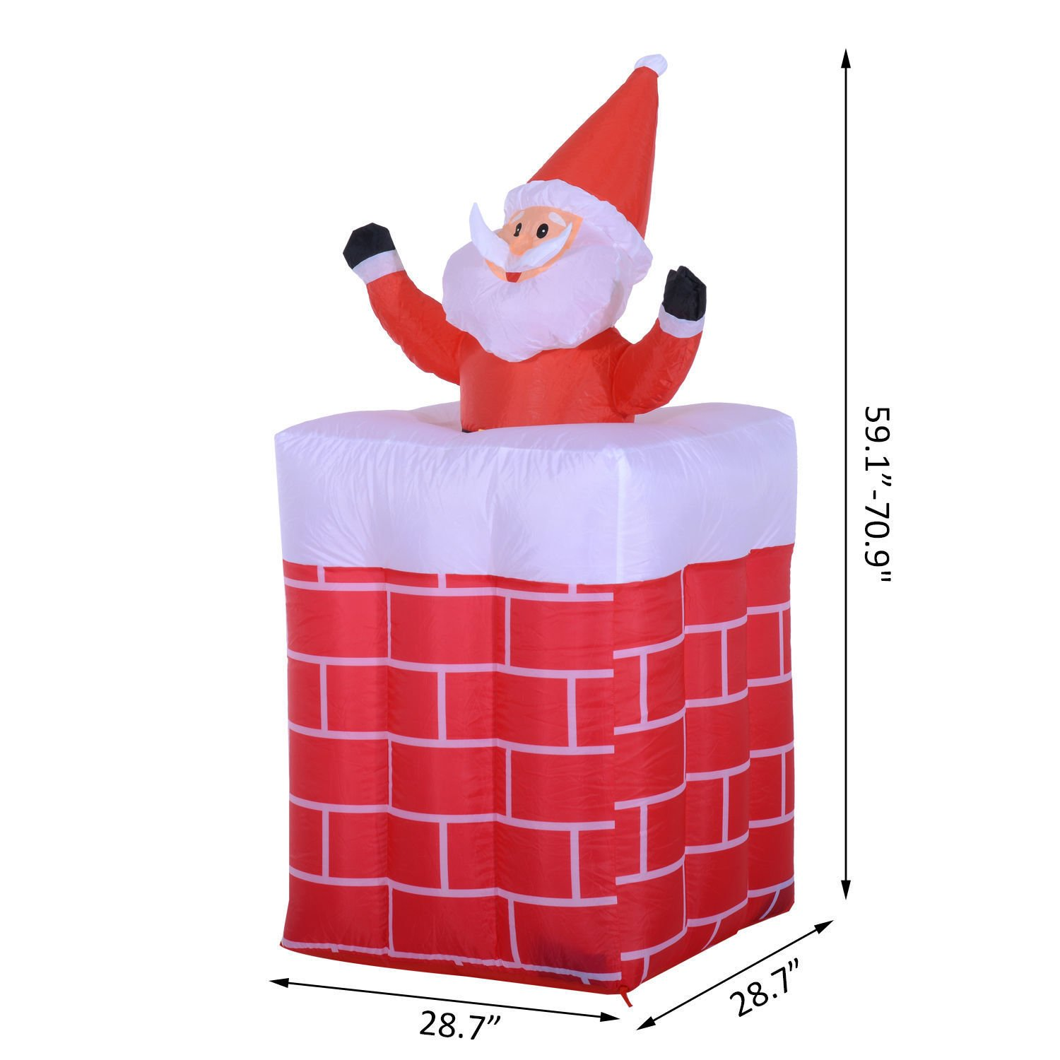 6ft Inflatable Santa Claus Rising in Chimney Christmas Lighted Yard Décor Guaranteed Quality