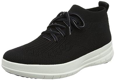 FitFlop Damen Uberknit Slip-on High Top Sneaker, Wei (Urban White 194), 41 EU