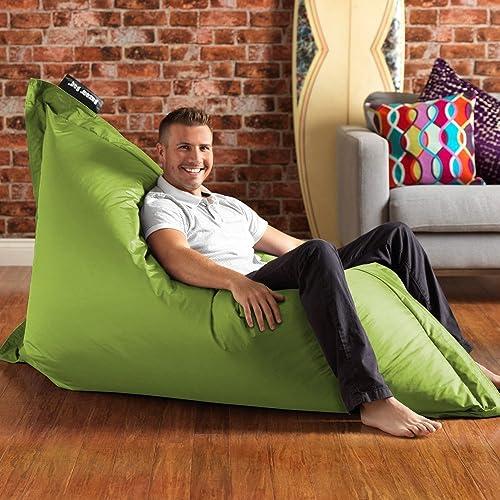 BAZAAR BAG® - Lime Green, Giant BeanBag - 180cm x 140cm, Indoor Outdoor Garden Floor Cushion Bean Bags