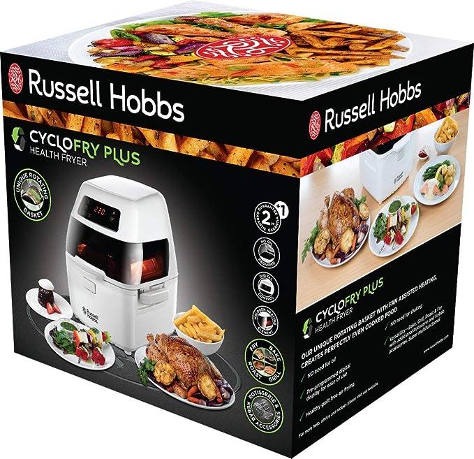 Russell Hobbs Ciclofry Plus Air 22101-56 - Freidora sin Aceite, 1300 W, Uso de Horno, Grill y Freidora, Cestillo Giratorio 1 kg, Accesorios Asador y Kebab, ...