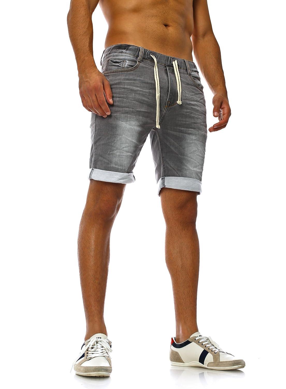 TALLA 29W. Sudadera Jeans Denim Jogger Shorts Verano Pantalón Corto Sublevel 98-86 azul oscuro