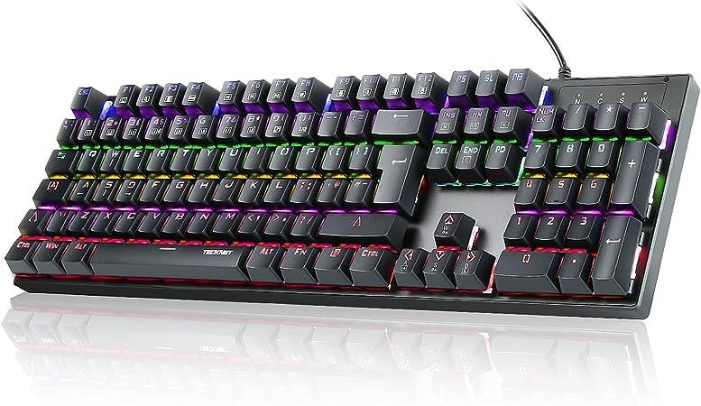 TeckNet Arctrix - teclado mecánico para juegos pro. negro negro