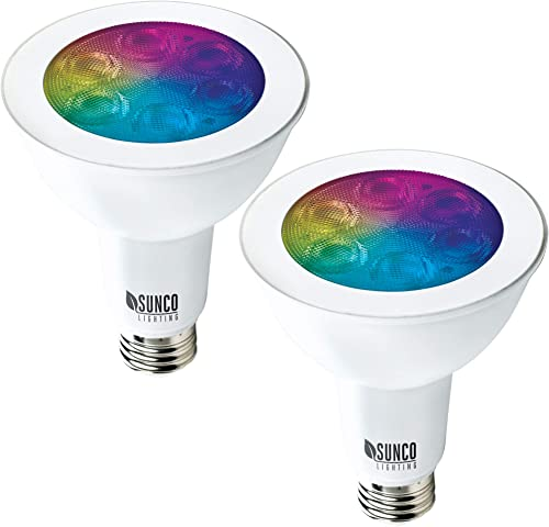Sunco Lighting 2 Pack WiFi LED Smart Bulb