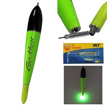 QualyQualy Flotadores de pesca con luz nocturna para agua salada y agua dulce, 1 unidad, 1pcs green size 1: Amazon.es: Deportes y aire libre