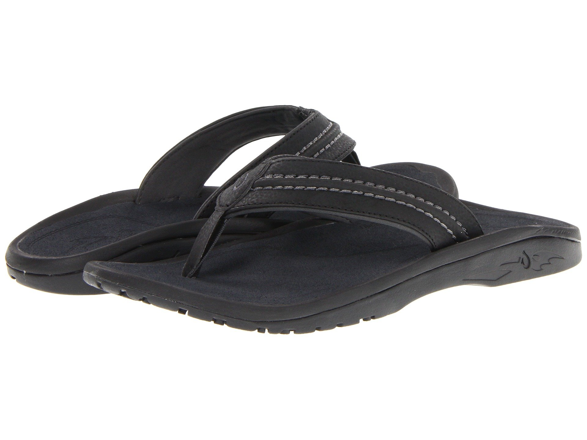 OLUKAI Hokua Sandal - Men's Black/Dark Shadow 9 by OLUKAI
