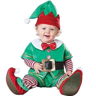 Hug Me Toddler Baby Infant Green Elf Christmas Dress up Costume Outfit  (80CM (7 - Amazon.com: Hug Me Toddler Baby Infant Green Elf Halloween Dress Up