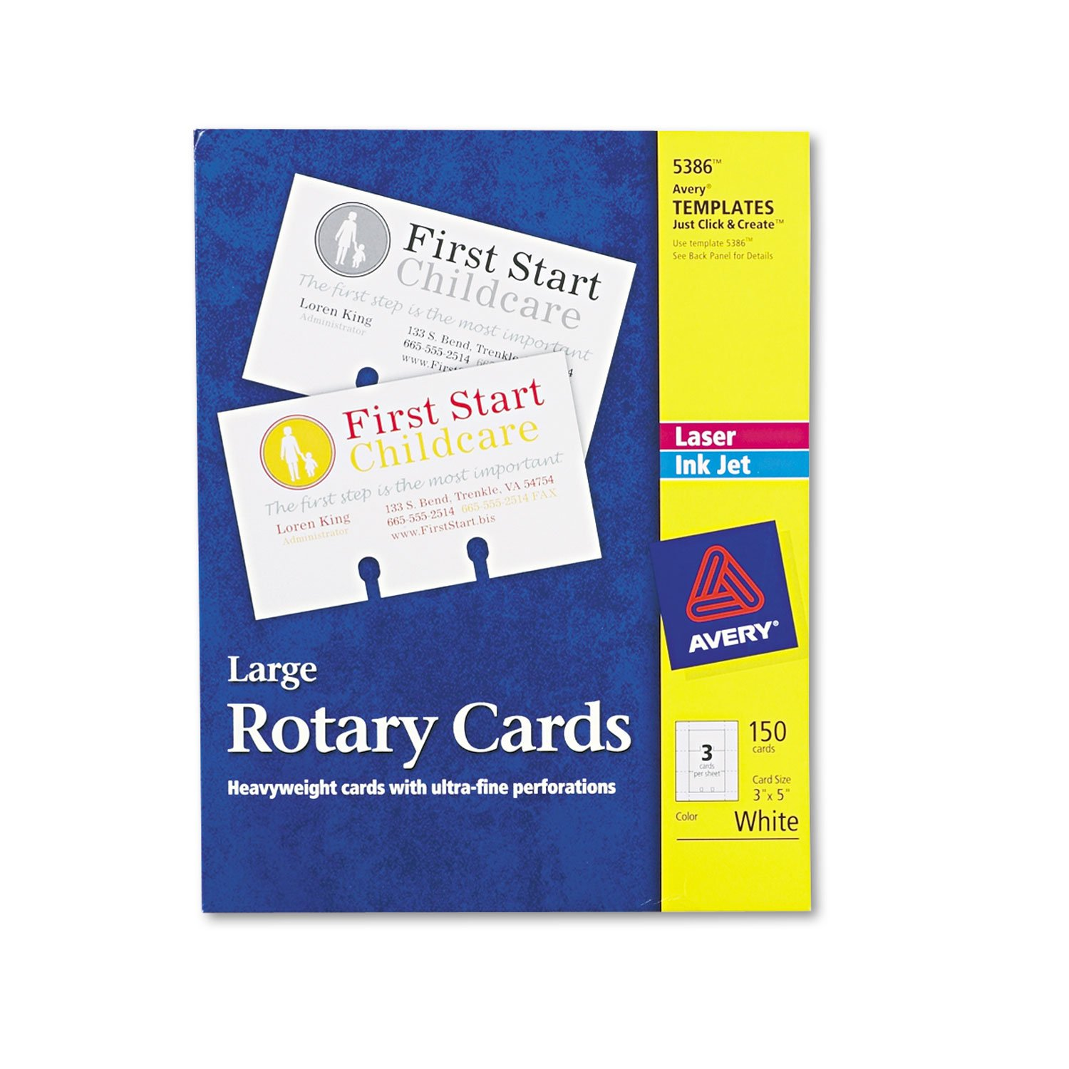 AVE5386 - Avery Large Rotary Cards