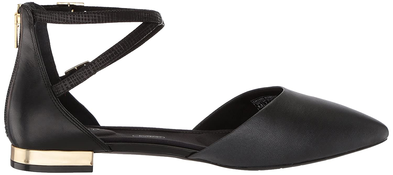 Rockport Women's Total Motion Adelyn Ankle Ballet Flat B073ZTKLSG 5 B(M) US|Black