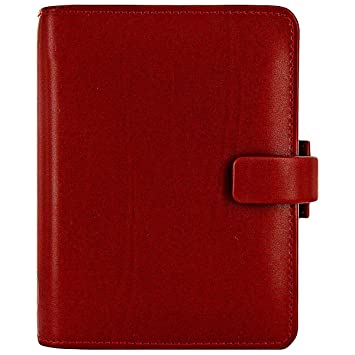 Filofax 404574 Metropol - Agenda (81 x 120 mm), color rojo