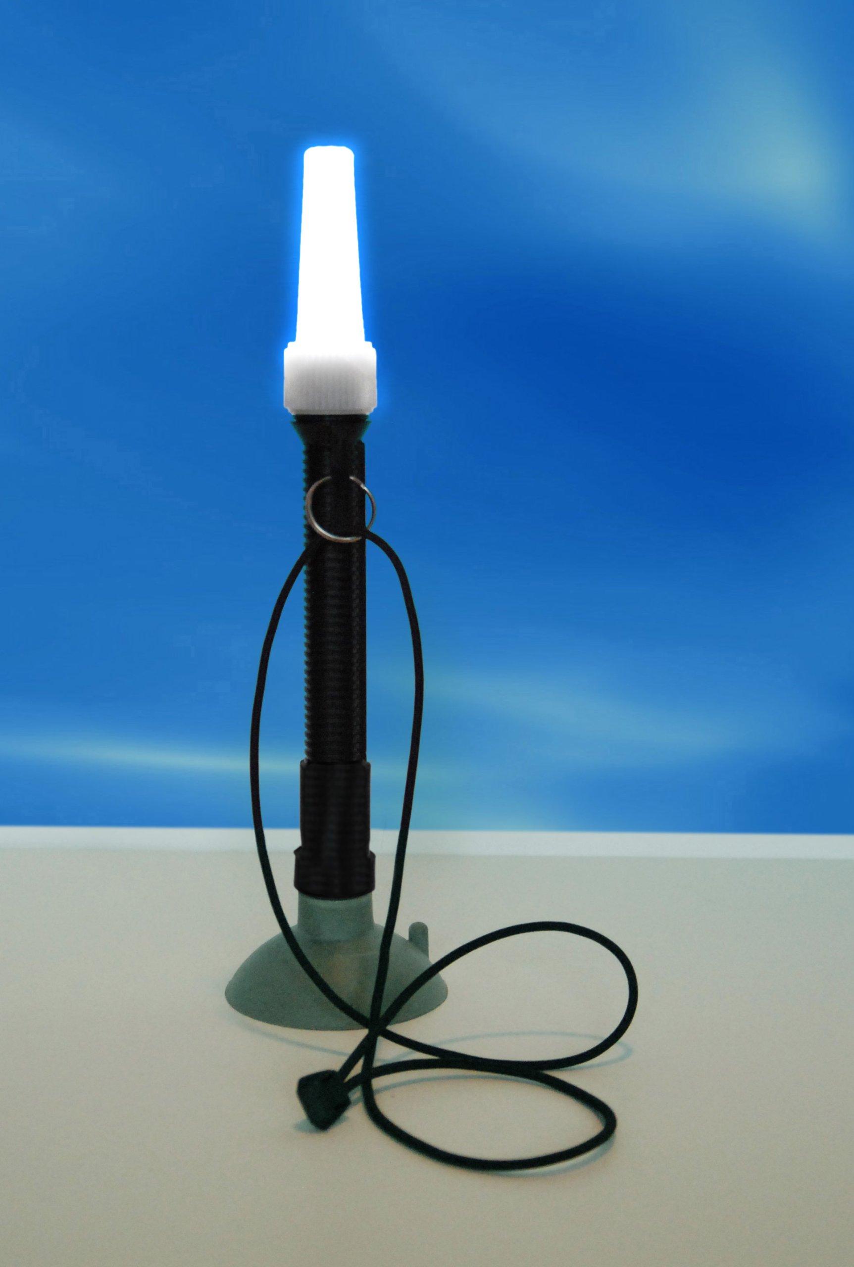 Kayalu WaterTorch 360° Kayak Light | Boat Work Light | Handheld Torch | Suction Base | Portable Bright White LED