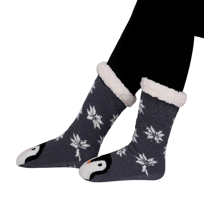Calcetines de invierno para mujer y hombre de punto con dibujos animados muy suaves Kokmn