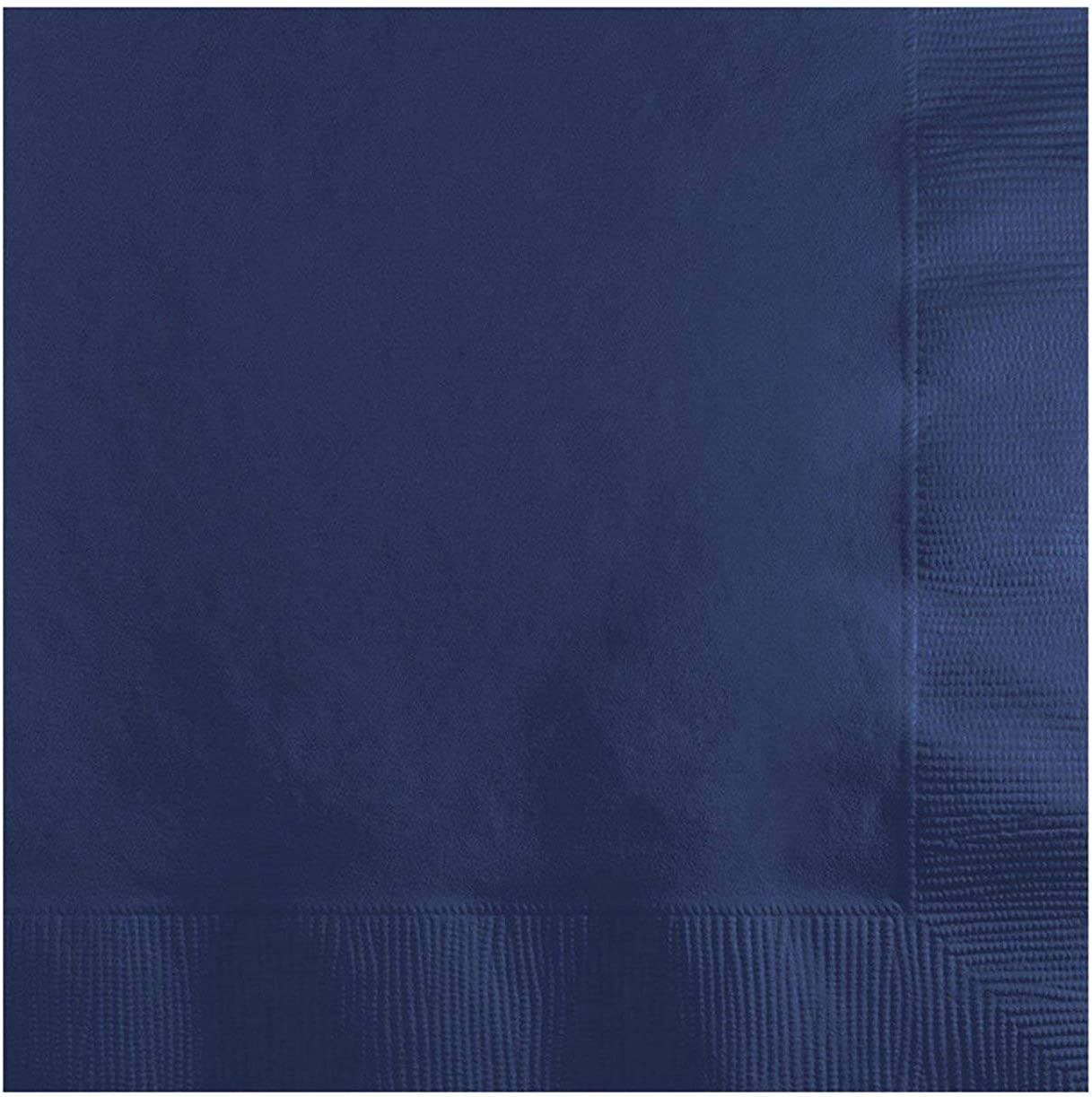 Solid Navy Beverage Napkins (200 Count)