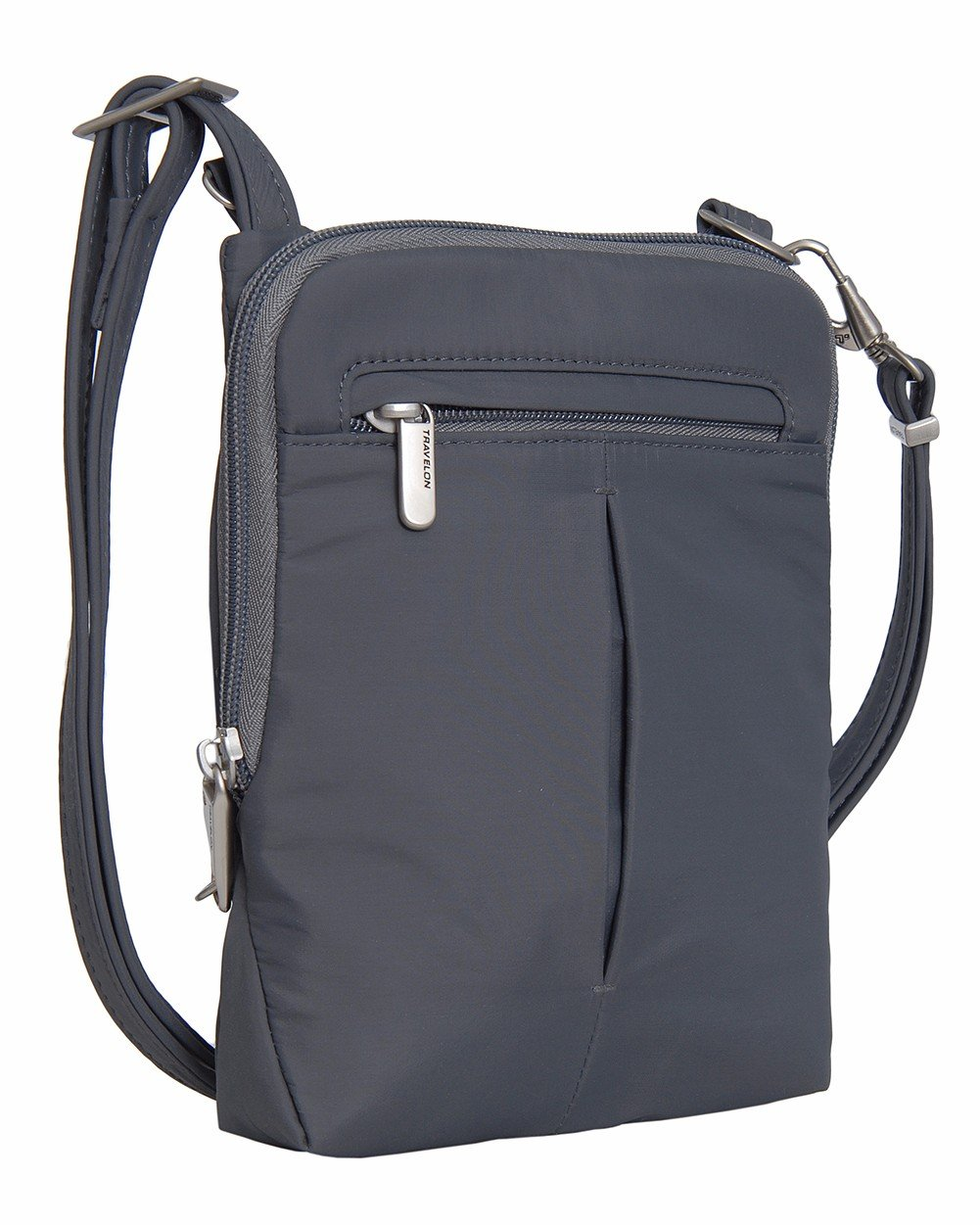 Travelon Anti-Theft Classic Light Mini Crossbody Messenger Bag (One Size, Grey - Exclusive Color)