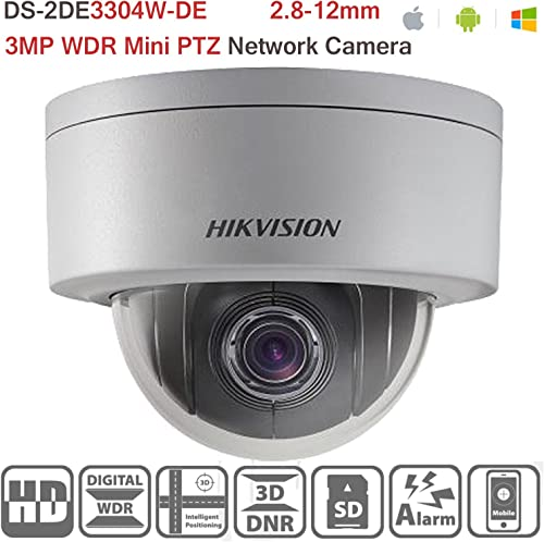 Hikvision PTZ DS-2DE3304W-DE 3MP Network Mini Dome IP Camera POE 4X Optical Zoom H.264 Outdoor Security Camera ONVIF English Version