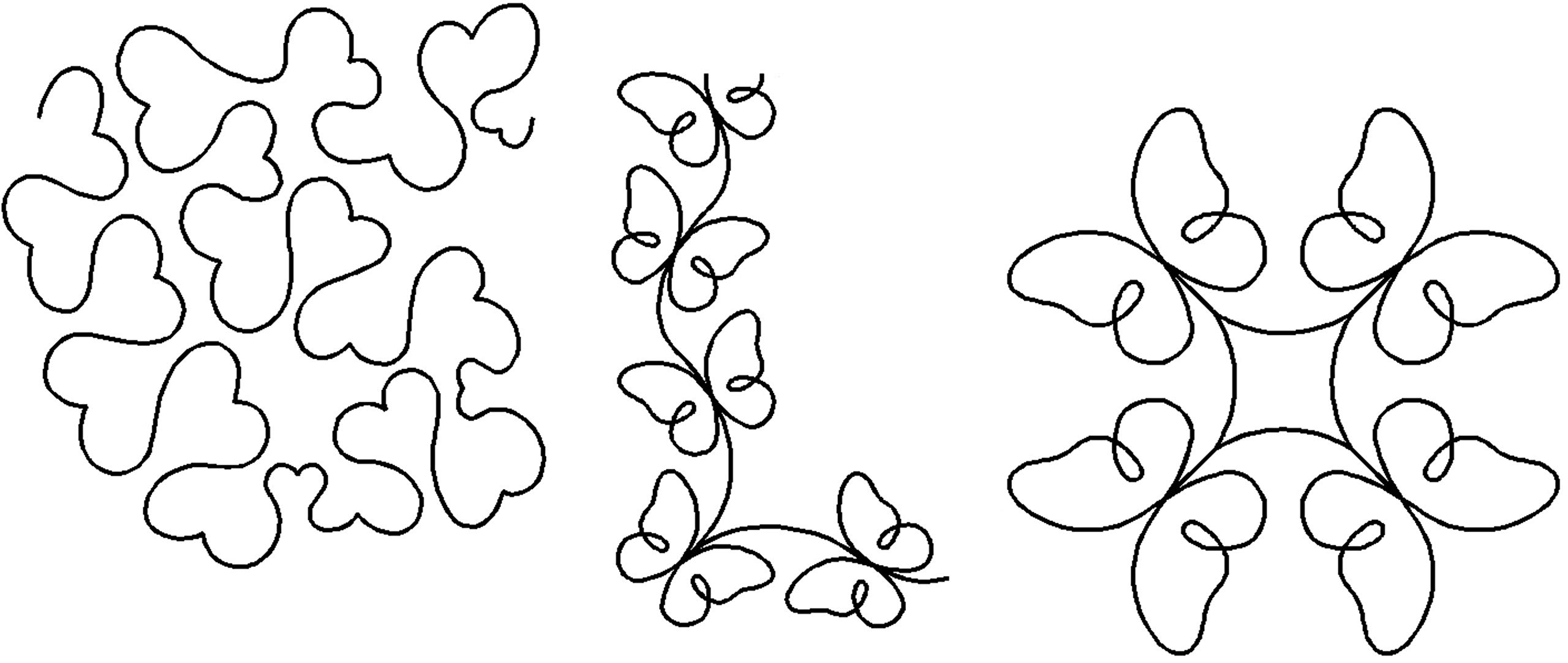 Quilting Creations Stencils for Machine and Hand Quilting | Set of 3 Quilt Plastic Stencils for Borders, Background and Block Patterns | Heart Stipple, Butterfly Border, Butterfly Block by Generic