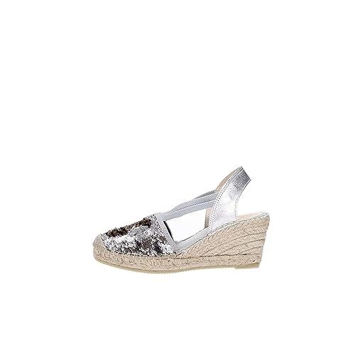 Vidorreta - Alpargatas para Mujer Plateado Plata 36: Amazon.es: Zapatos y complementos