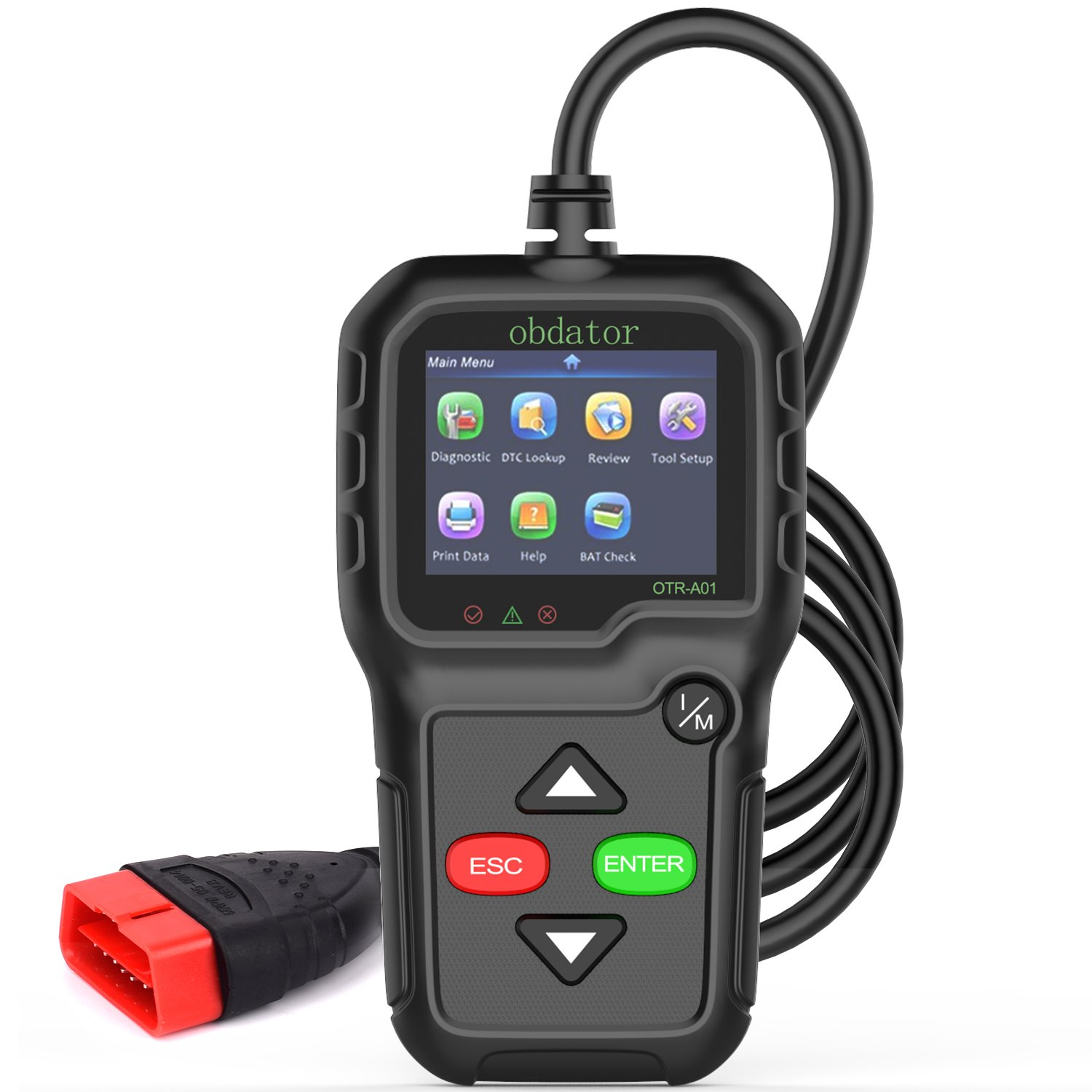 obdator OBD2 OBD Scanner Code Reader Auto Code Reader Professional Enhanced OBDII Check Engine Light Diagnostic Scan Tool
