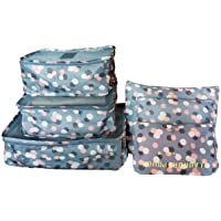 M-jump 6 Set Travel Storage Bags Multi-functional Clothing Sorting Packages,Travel Packing Pouches, Luggage Organizer…