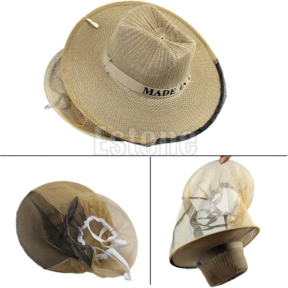 Beekeeping Garden Guard Cowboy Hat Anti Mosquito Bee Insect Bug Face Head Veil J
