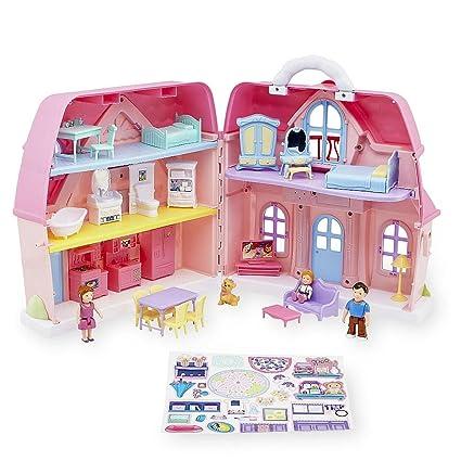 Amazon Com You Me Family Cottage Dollhouse Playset Toys Games