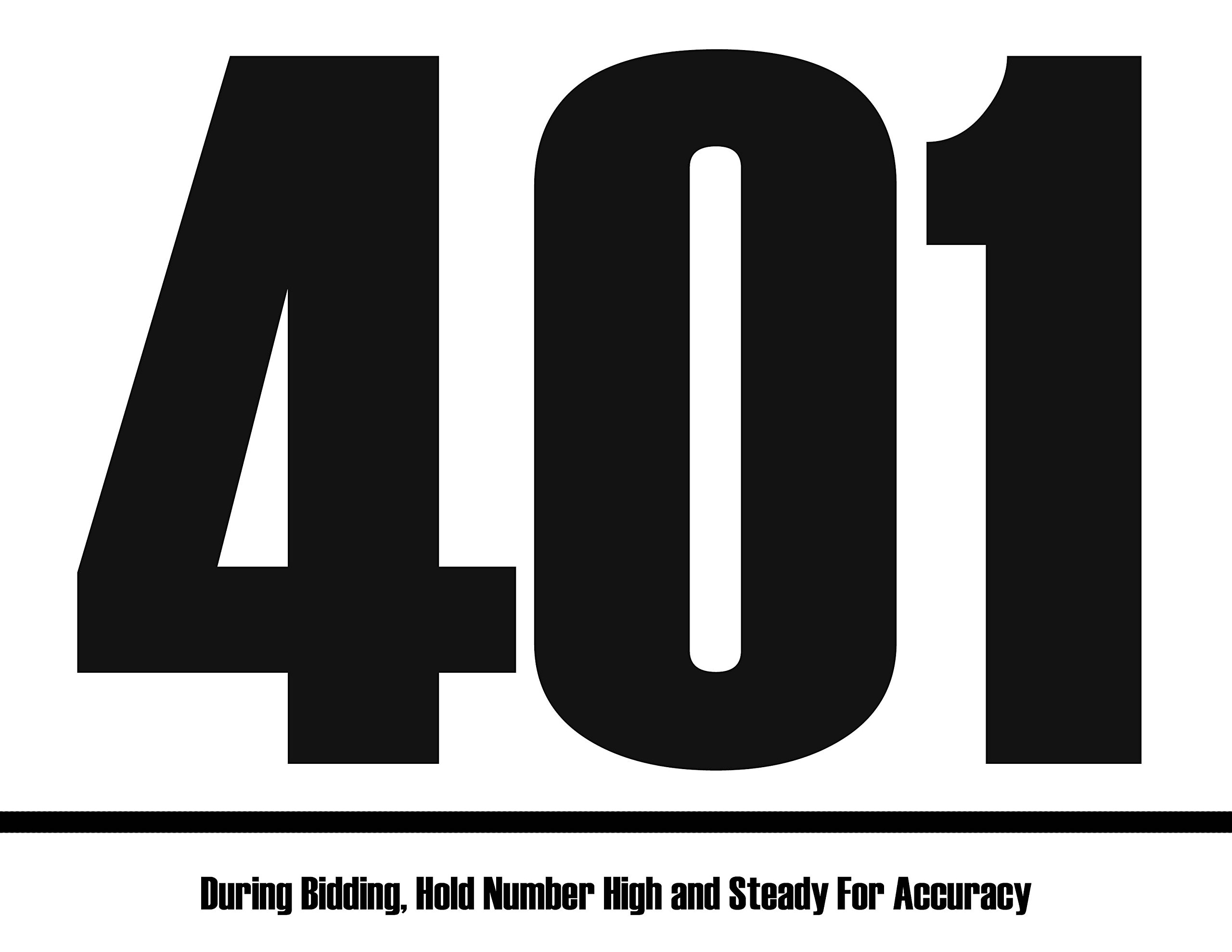 Bid Card - 401-500 (8.5-x-11-inch)