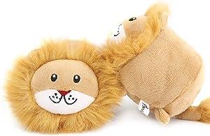 Pawaboo Squeak Plush Dog Toys, Stuffed Plush Pet Toys Soft Faux-Fur Pet Rattle Puppy Bite Play Chew Toys Non-Toxic Plush Doll