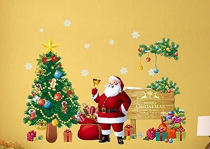 Amazon.com: finerme festival christmas glass wall decoration large