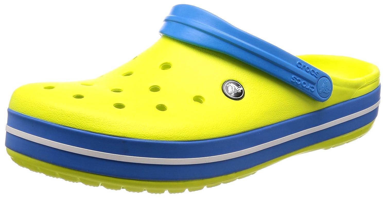 Crocs Crocband, Zuecos Unisex Adulto 48/49 EU|Varios Colores (Tennis Ball Green/Ocean)