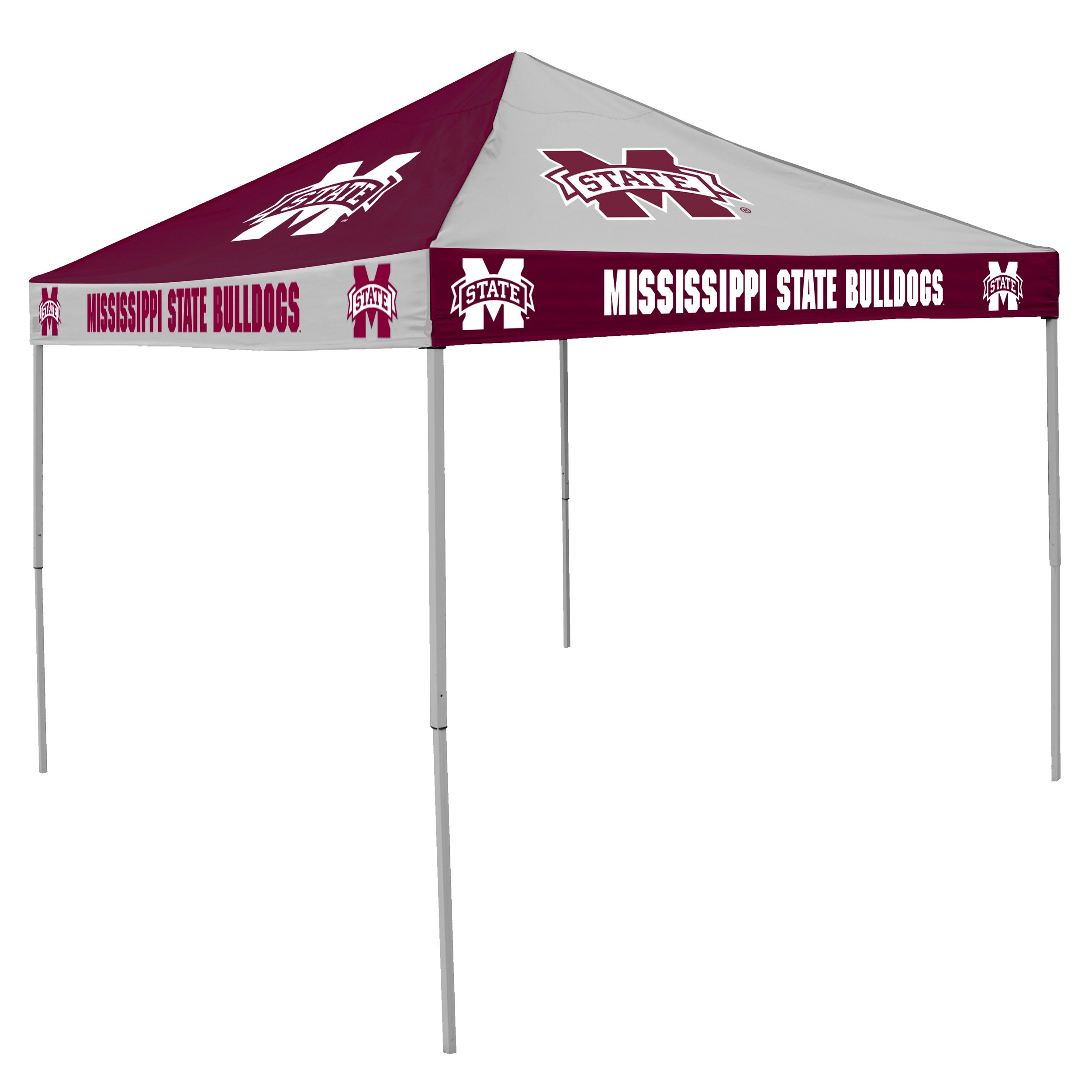 Logo Brands NCAA CB Tent, Mississippi State Bulldogs, 9 foot X 9 foot by Logo Brands