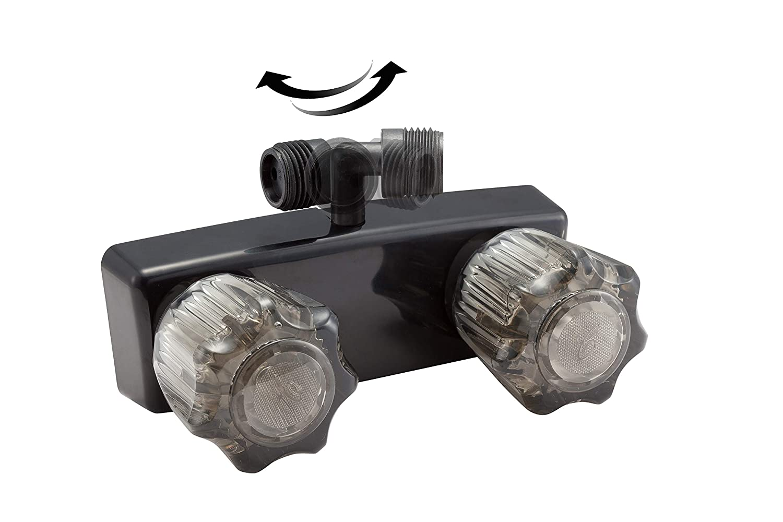 Shower Hose DF-SA170-BK Dura Faucet Shower Wand by Dura Faucet Includes Shower Faucet RV Exterior Shower Box Kit in Black