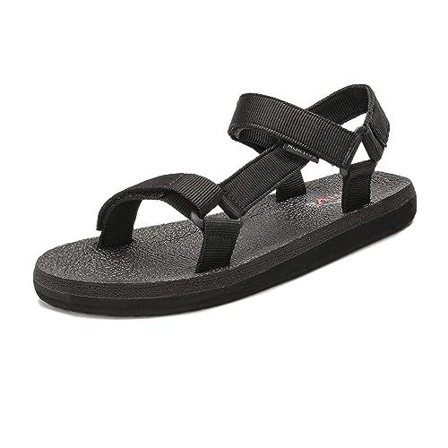 c8a5c97e90f82 NORTIV 8 Men's 181114M Black Outdoor Sport Walking Sandals Summer Beach  Sandal Size 14 M US