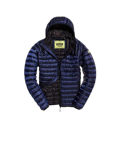 9e4e7b119fa59a Superdry M50000DR Down Jacket Man Blue L: Amazon.co.uk: Clothing