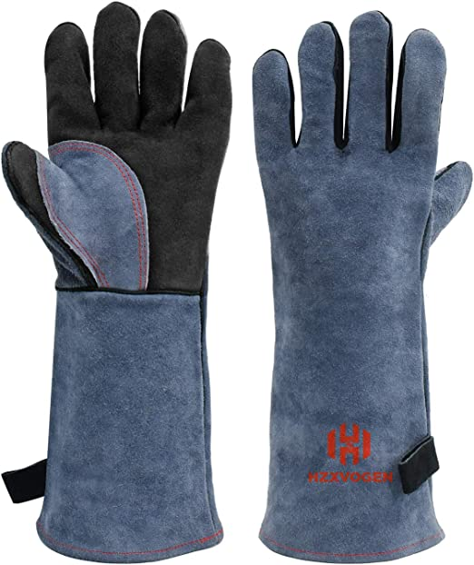 Blue Tig Welding Gloves,DOURR Welding Gloves EXTREME Heat /& Fire Resistant Mittens for Mig Welders Grill Fireplace Stove BBQ Glove 16 inch