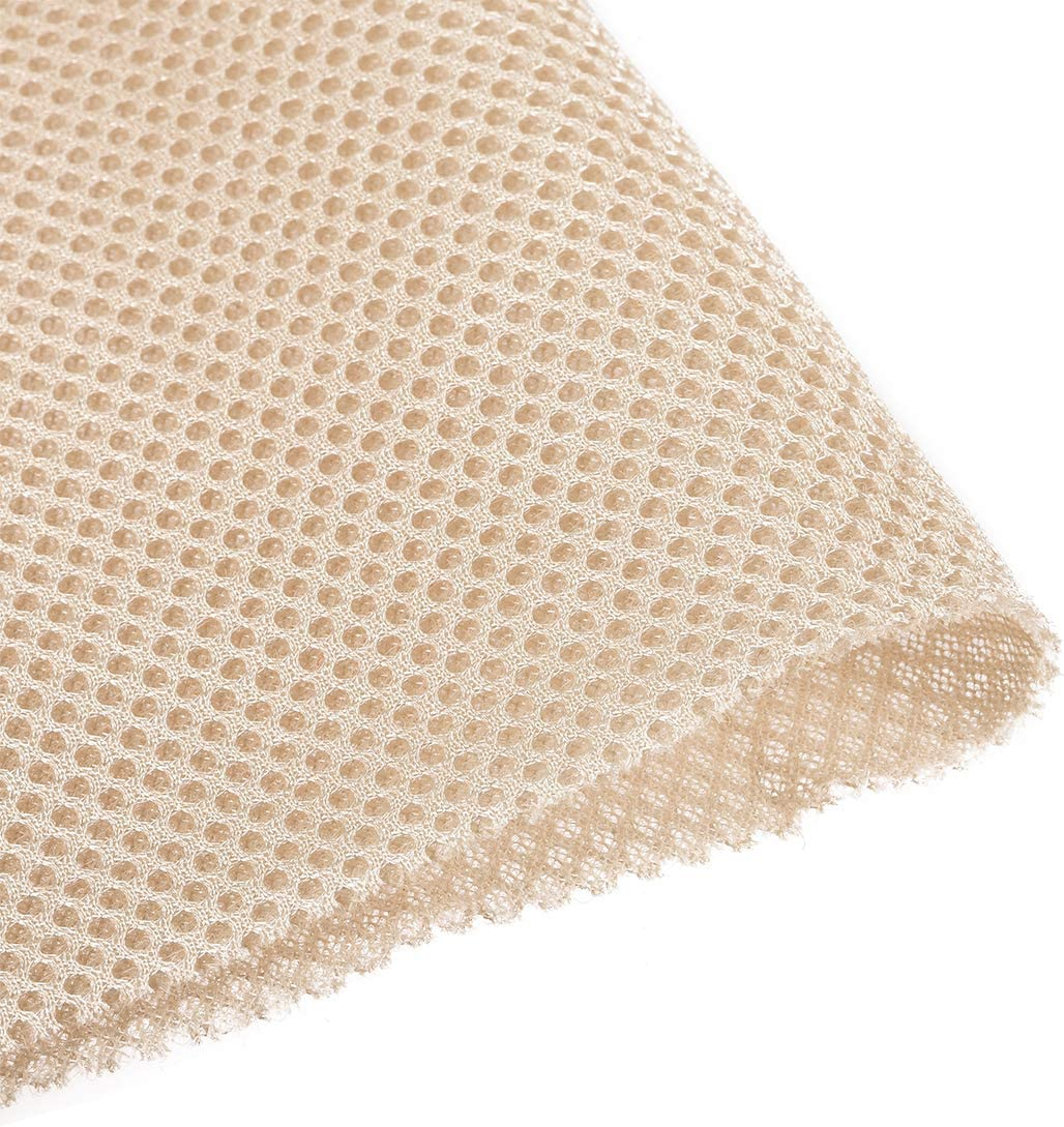 uxcell Beige Speaker Mesh Grill Cloth Stereo Box Fabric Dustproof Audio Cloth 50cm x 160cm 20 inches x 63 inches