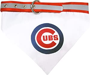 Dog Bandana with Dog Collar. - MLB Licensed. - 29 Baseball Teams Available in 3 Sizes. - Heavy-Duty, Strong & Durable MLB PET Collar with Attached Bandana. Cute Pet Bandana.