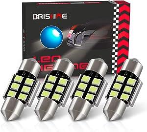 "BRISHINE DE3175 LED Bulbs, Super Bright Ice Blue 2835 Chipsets Canbus Error Free 31MM 1.25"" Festoon DE3021 DE3022 3175 6428 LED Bulbs for Car Dome Map Door Courtesy License Plate Lights(Pack of 4)"