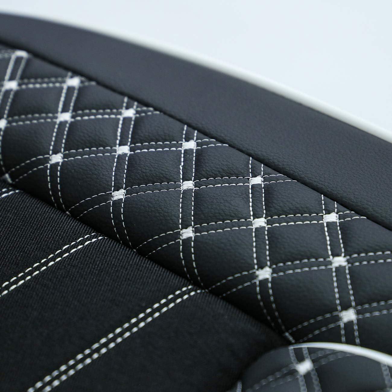 de piel sint/ética Juego completo de fundas para asientos de coche apto para Audi Q5 a partir de 2008 color negro//blanco
